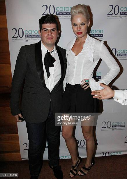 Eli Mizrahi and Kate Nauta attend the Caron 25th Anniversary event at Butter on September 23 2009 in New York City