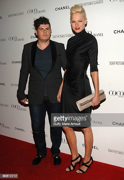 """Eli Mizrahi and Kate Nauta attend the """"Coco Before Chanel"""" New York Premiere at the Paris Theatre on September 15, 2009 in New York City."""