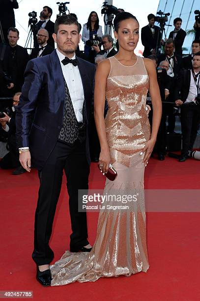 Eli Mizrahi and Selita Ebanks attend the Two Days One Night premiere during the 67th Annual Cannes Film Festival on May 20 2014 in Cannes France