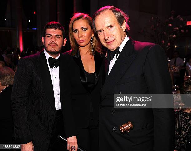 Eli Mizrahi Inga Rubenstein and Art Collector and Honoree Simon de Pury attend Gabrielle's Angel Foundation Hosts Angel Ball 2013 at Cipriani Wall...