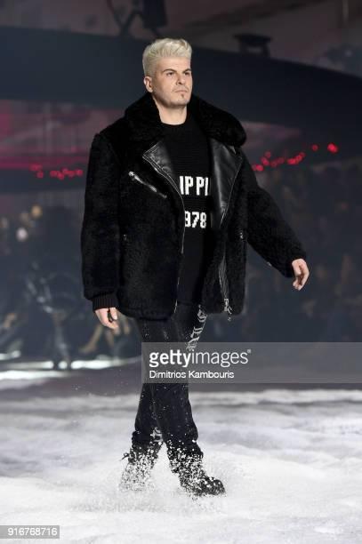 Eli Mizrahi walks the runway the Philipp Plein fashion show during New York Fashion Week The Shows on February 10 2018 in New York City
