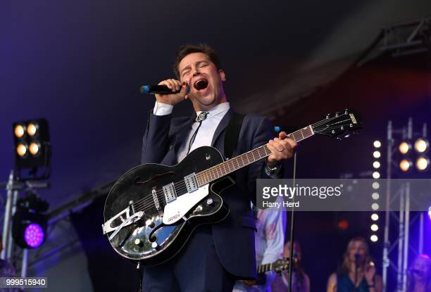 Eli 'Paper Boy' Reed performs with Staxs at Cornbury Festival at Great Tew Park on July 15 2018 in Oxford England