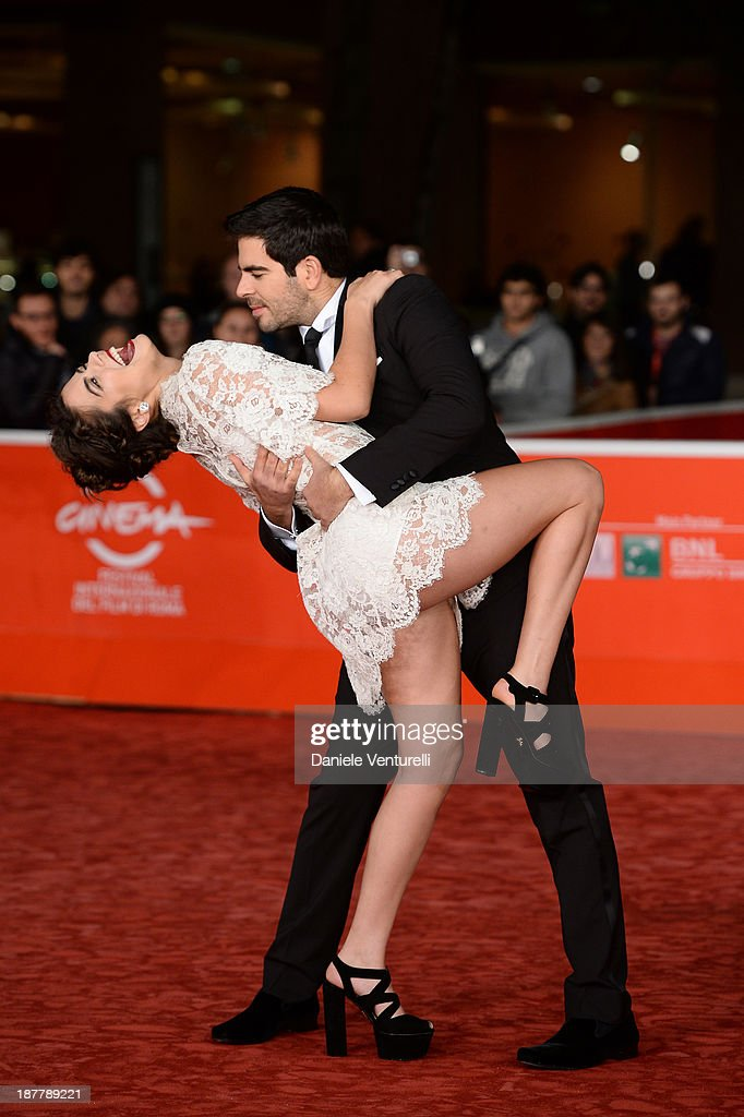 Eli Roth and Lorenza Izzo attend 'The Green Inferno' Premiere during The 8th Rome Film Festival on November 12, 2013 in Rome, Italy.