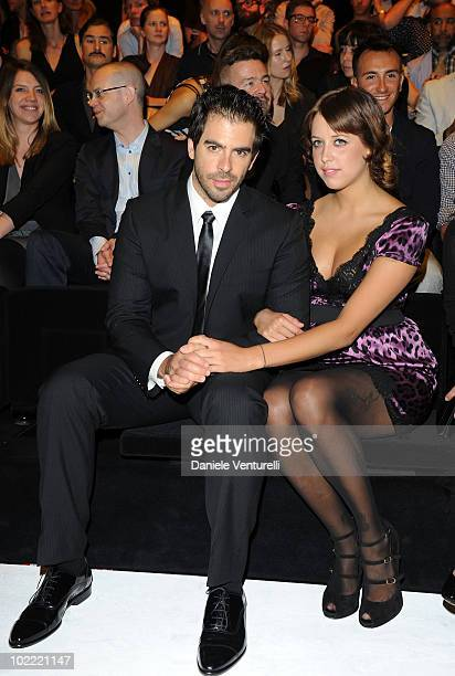 Eli Roth and Peaches Geldof attend the Dolce Gabbana Milan Menswear Spring/Summer 2011 show on June 19 2010 in Milan Italy