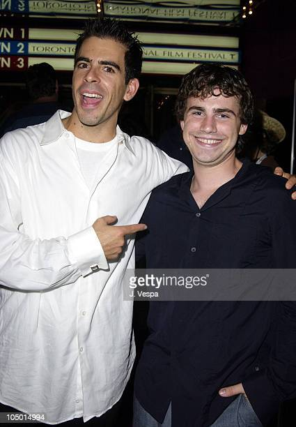 Eli Roth Dir and Rider Strong during 2002 Toronto Film Festival Cabin Fever Premiere at Uptown Theater in Toronto Ontario Canada