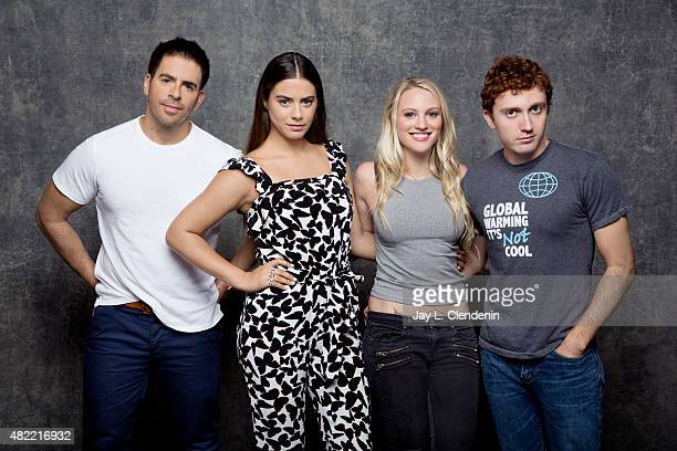 Eli Roth Kirby Bliss Blanton Lorenza Izzo and Aaron Burns of 'The Green Inferno' poses for a portrait at ComicCon International 2015 for Los Angeles...