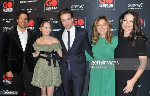 Eli Roth, Lily Collins, Robert Pattinson, Sasha Alexander and Evangeline Lilly attend the GO Campaign Gala at City Market Social House on October 20,...