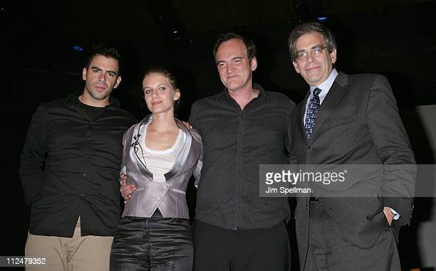 Eli Roth Melanie Laurent Quentin Tarantino and David Marwell attend an Inglourious Basterds QA at the Museum of Jewish Heritage on August 13 2009 in...