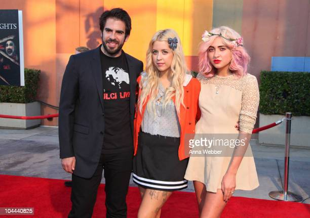 """Eli Roth, Peaches Geldof and guest arrive at the Universal Studios Hollywood """"Halloween Horror Night"""" Eyegore Awards on September 24, 2010 in..."""