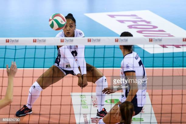 Eli Silvi Uattara Marija Milovic of Venelles during the volleyball women's supercup match between Mulhouse and Venelles on October 7 2017 in Mulhouse...