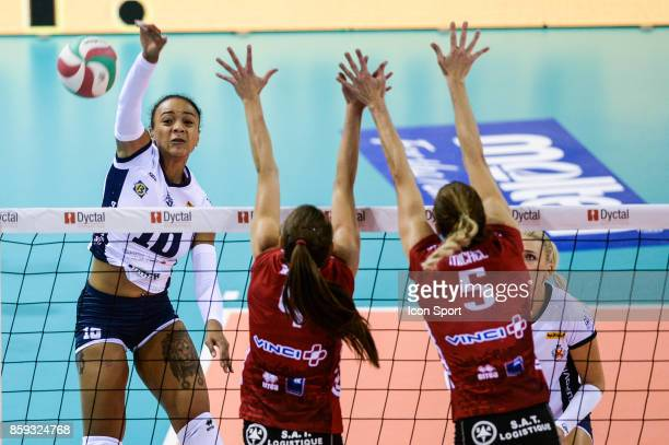 Eli Silvi Uattara of Venelles during the volleyball women's supercup match between Mulhouse and Venelles on October 7 2017 in Mulhouse France