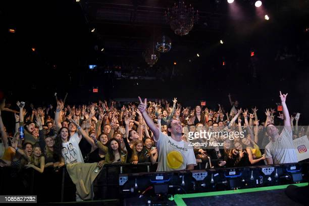 Eli Sones and Matthew Halper of Two Friends performs during the With My Homies Tour at Irving Plaza on January 19, 2019 in New York City.