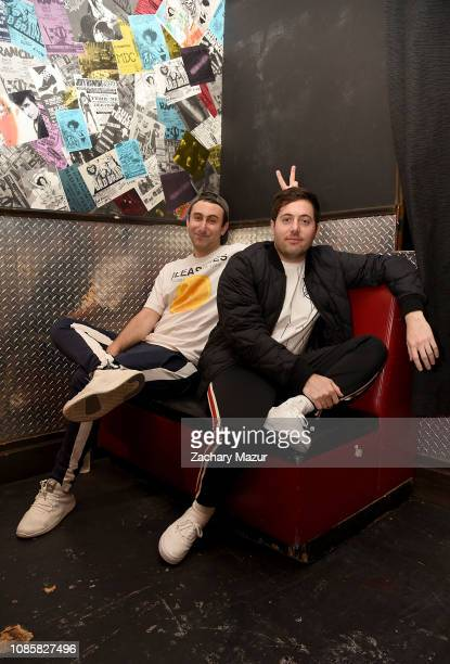 Eli Sones and Matthew Halper of Two Friends pose backstage during the With My Homies Tour at Irving Plaza on January 19, 2019 in New York City.