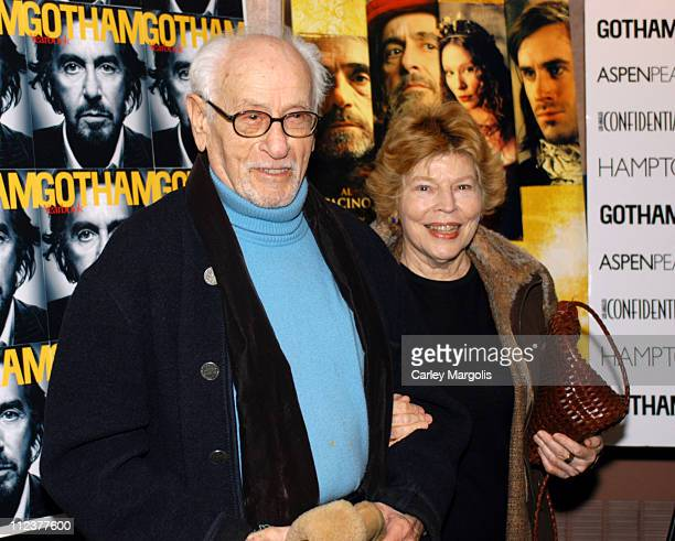 """Eli Wallach and Anne Jackson during Gotham Magazine, Al Pacino and Sony Pictures Host the Premiere Party for """"The Merchant of Venice"""" - Premiere..."""
