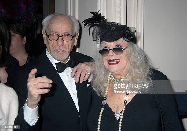 Eli Wallach and Sylvia Miles during The Academy of Motion Picture Arts and Sciences Official New York 2007 Oscar Party at St. Regis Hotel in New York...