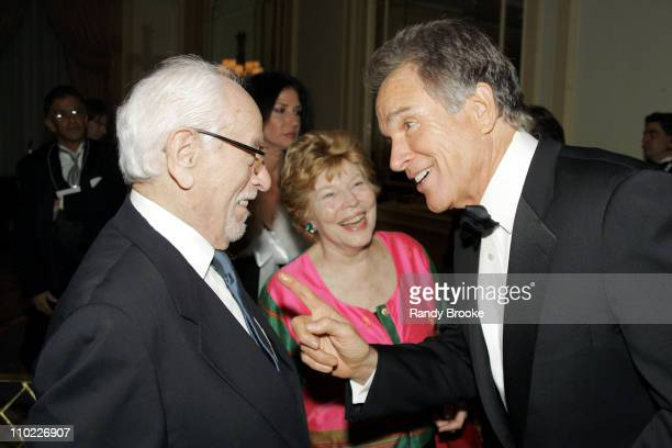 Eli Wallach and Warren Beatty during National Arts Club Celebration for The Stella by Starlight Gala at The Pierre Hotel in New York, United States.