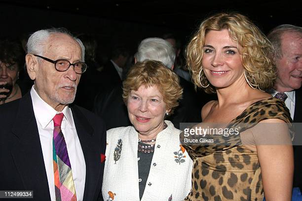 """Eli Wallach, Anne Jackson and Natasha Richardson during """"A Streetcar Named Desire"""" on Broadway - Curtain Call and After Party at Roundabout Theater..."""