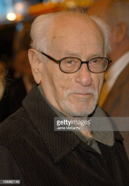 """Eli Wallach during """"Twelve Angry Men"""" - Opening Night - Arrivals at American Airlines Theater in New York City, New York, United States."""