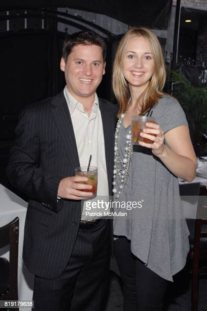 Eli Weinberger Liz Johnson attend The Supper Club Shepard Fairey's SNO host a Bombay Sapphire Tea Party at The Tea Room on July 20 2010 in Hollywood...