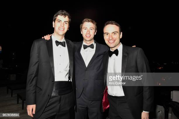 Eli Yokley Alex Wirth and Michael Walker attend The Young Turks Watchdog Correspondents Preamble Party at The Hepburn on April 28 2018 in Washington...