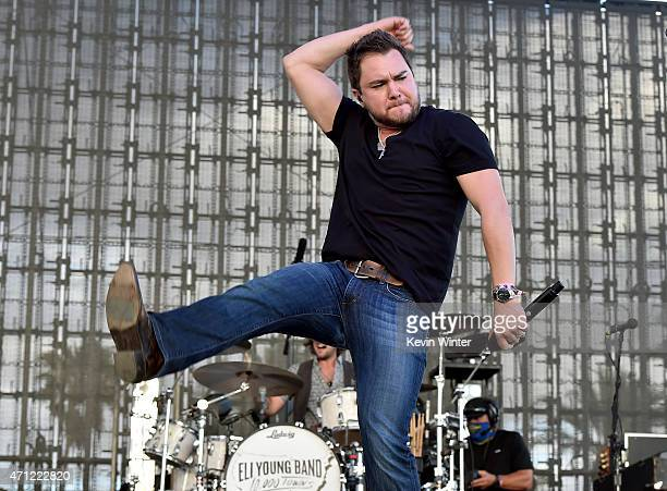 Eli Young Band performs onstage during day two of 2015 Stagecoach California's Country Music Festival at The Empire Polo Club on April 25 2015 in...