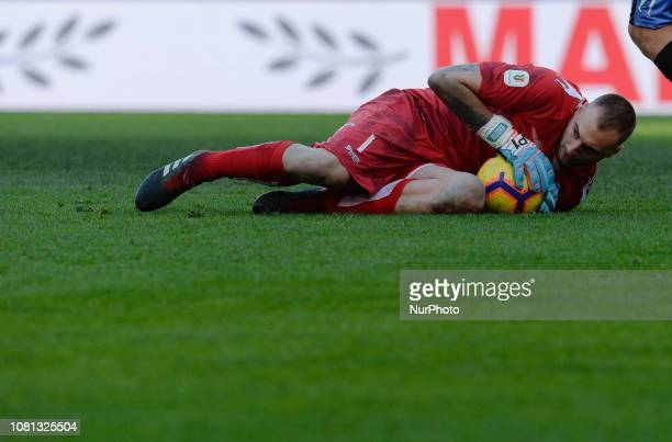 Elia Benedettini during the Italian Cup football match between SS Lazio and Novara at the Olympic Stadium in Rome on January 12 2019