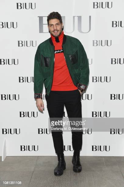 Elia Fongaro attends the BIUU Special Show Photocall during Milan Men's Fashion Week Autumn/Winter 2019/20 on January 12 2019 in Milan Italy