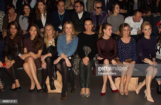 Elia Galera Ana Rujas Carolina Bang Mar Flores Manuela Velles Natalia Rodriguez and Soraya Arnelas attend Mercedes Benz Fashion Week Madrid W/F 2014...
