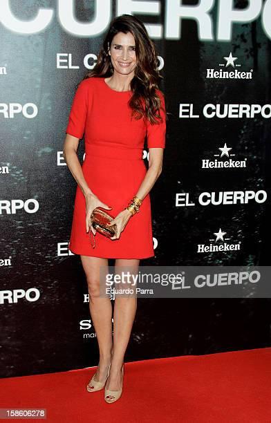 Elia Galera attends 'El cuerpo' premiere at Cinexfera space on December 20 2012 in Madrid Spain