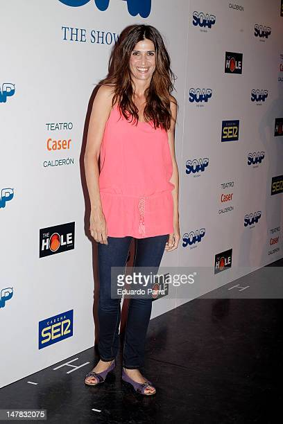 Elia Galera attends 'Soap The Show' premiere at Calderon Theatre on July 4 2012 in Madrid Spain