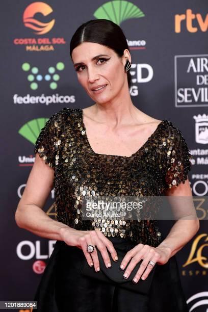 Elia Galera attends the Goya Cinema Awards 2020 during the 34th edition of the Goya Cinema Awards at Jose Maria Martin Carpena Sports Palace on...