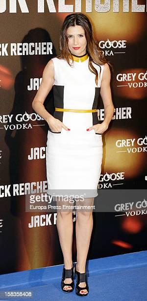Elia Galera attends the premiere of 'Jack Reacher' on December 13 2012 in Madrid Spain