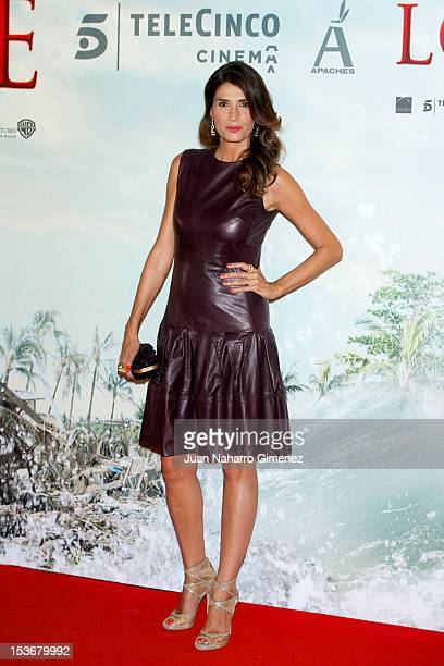 Elia Galera attends the 'The Impossible' premiere at Kinepolis cinema on October 8 2012 in Madrid Spain