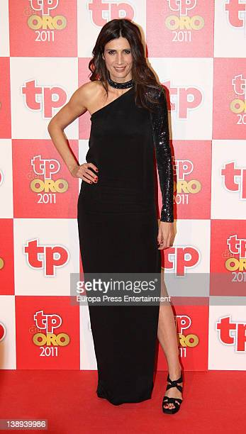 Elia Galera attends 'TP de Oro' Television Awards 2012 at Canal Theatre on February 13 2012 in Madrid Spain