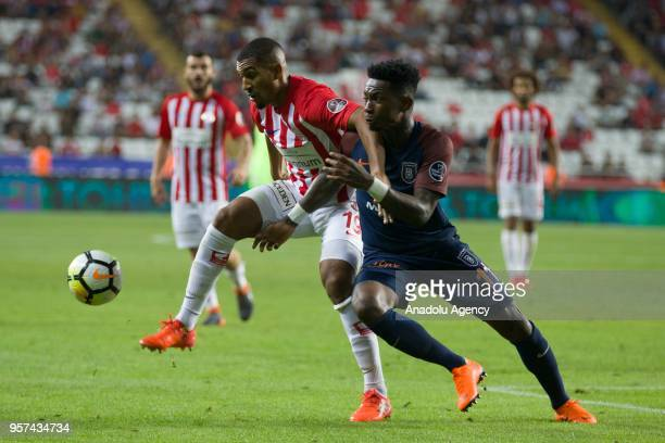 Elia of Medipol Basaksehir in action against Vainqueur of Antalyaspor during the Turkish Super Lig match between Antalyaspor and Medipol Basaksehir...