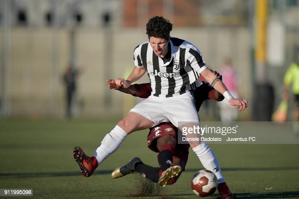 Elia Petrelli during the U17 match between Torino FC and Juventus on January 28 2018 in Turin Italy
