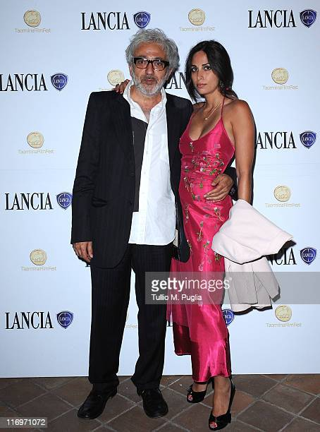 Elia Suleiman and guest attend the 57th Taormina Film Fest closing ceremony cocktail party at Lancia Cafe on June 18 2011 in Taormina Italy