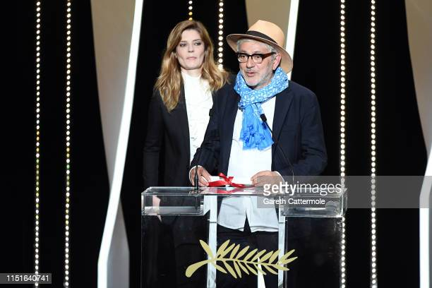 Elia Suleiman receives the Special Mention award for his film It Must Be Heaven during the Closing Ceremony of the 72nd annual Cannes Film Festival...