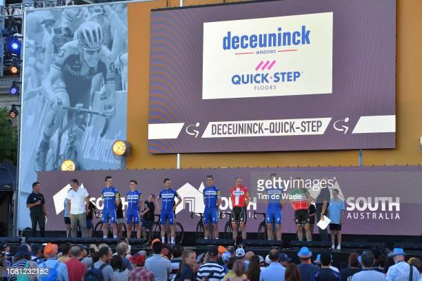 Elia Viviani of Italy and Deceuninck QuickStep / Fabio Sabatini of Italy and Deceuninck QuickStep / Michael Mørkøv of Denmark and Deceuninck...