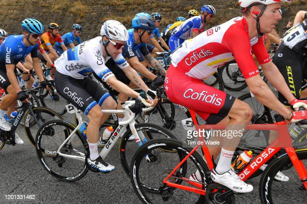 Elia Viviani of Italy and Team Cofidis Solutions Credits / Injury / Samuele Battistella of Italy Team NTT Pro Cycling / Giacomo Nizzolo of Italy and...