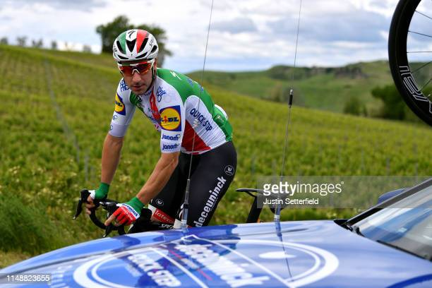 Elia Viviani of Italy and Team Deceuninck QuickStep / Car / during the 102nd Giro d'Italia 2019 Stage 3 a 220km stage from Vinci to Orbetello / Tour...