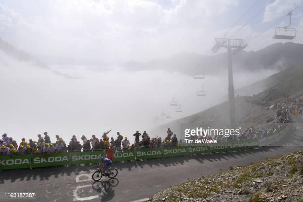 Elia Viviani of Italy and Team Deceuninck - Quick-Step / Col de Tourmalet / Mountains / Fans / Public / Fog / during the 106th Tour de France 2019,...