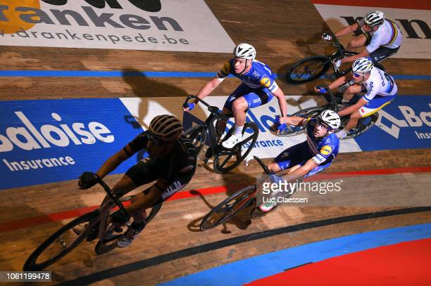 Elia Viviani of Italy and Team Quick-Step Floors / Iljo Keisse of Belgium and Team Quick-Step Floors / Roger Kluge of Germany and Team Callant /...