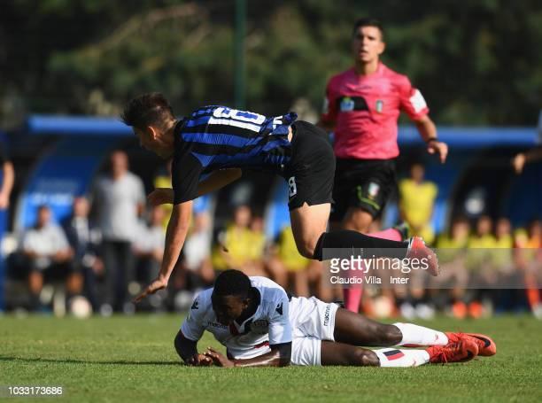 Elian Demirovic of FC Internazionale in action during Fc internazionale U19 V Cagliari U19 match at Stadio Breda on September 14 2018 in Sesto San...