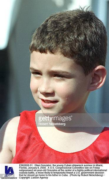 Elian Gonzalez the young Cuban shipwreck survivor in Miami Florida January 8 2000 A US Congressional Committee late on Friday subpoenaed six yearold...