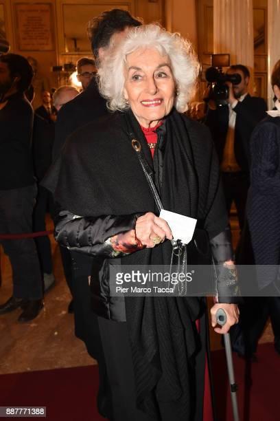 Eliana de Sabata attends the Prima Alla Scala at Teatro Alla Scala on December 7 2017 in Milan Italy