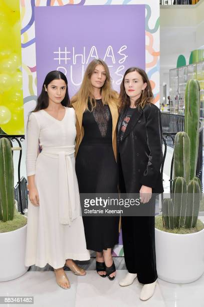 Eliana Gil Rodriguez Laura Gorun and Madelynn Furlong attend Barneys New York Celebrates Haas for the Holidays Hosted by Matthew Mazzucca Nikolai...