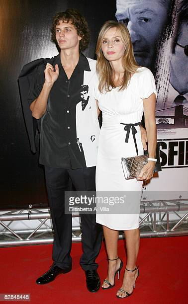 Eliana Miglio and Andrea Miglio Risi attend the 'Righteous Kill' premiere at the Warner Cinema Moderno on September 16 2008 in Rome Italy
