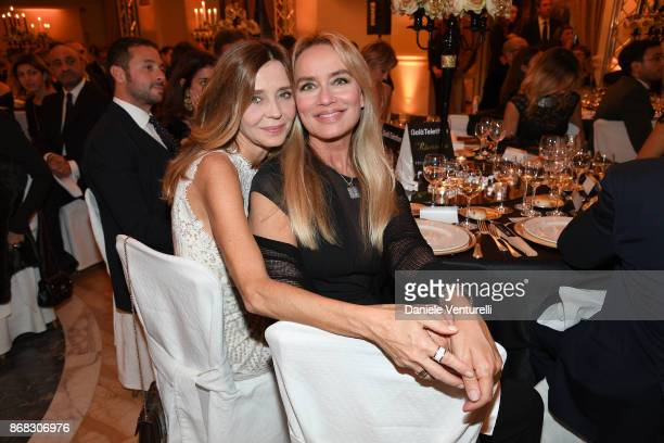 Eliana Miglio and Gloria Guida attend Telethon Gala during the 12th Rome Film Fest at Villa Miani on October 30 2017 in Rome Italy