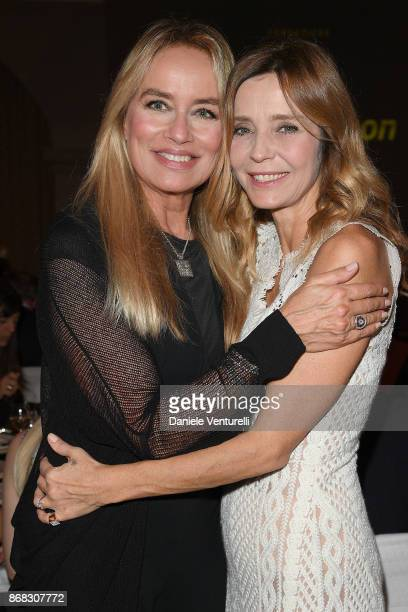 Eliana Miglio and Gloria Guida attend Telethon Gala during the 12th Rome Film Fest at Villa Miani on October 30, 2017 in Rome, Italy.